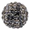 Swarovski Bead 40515 Round 15mm Silver Night Crystal